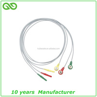2017 new holter ecg 3 Lead ecg Cable to snap