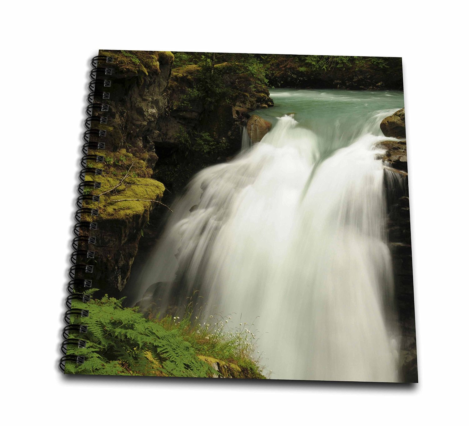 Danita Delimont - Waterfalls - Hooksack Waterfalls, Washington, USA - US48 MHE0033 - Michel Hersen - Memory Book 12 x 12 inch (db_148376_2)