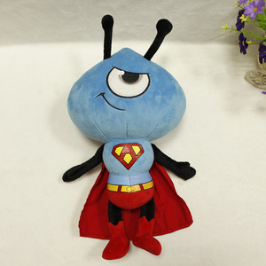Wholesale kids blue fashion superman ant soft stuffed plush toy