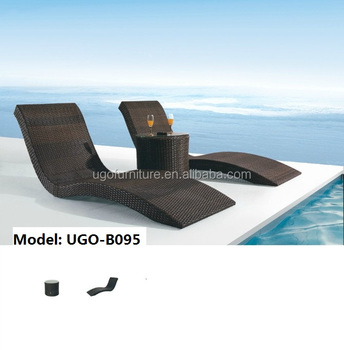 Ugo Rattan Furniture Outdoor Weights Two Leisure Lounge Patio