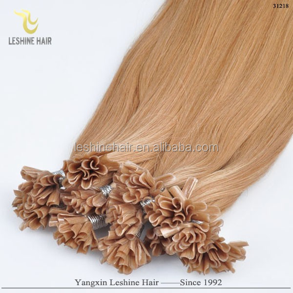 Popular Best Selling No Tangle No Shedding Directly Factory Price dip dye pre bonded hair extension