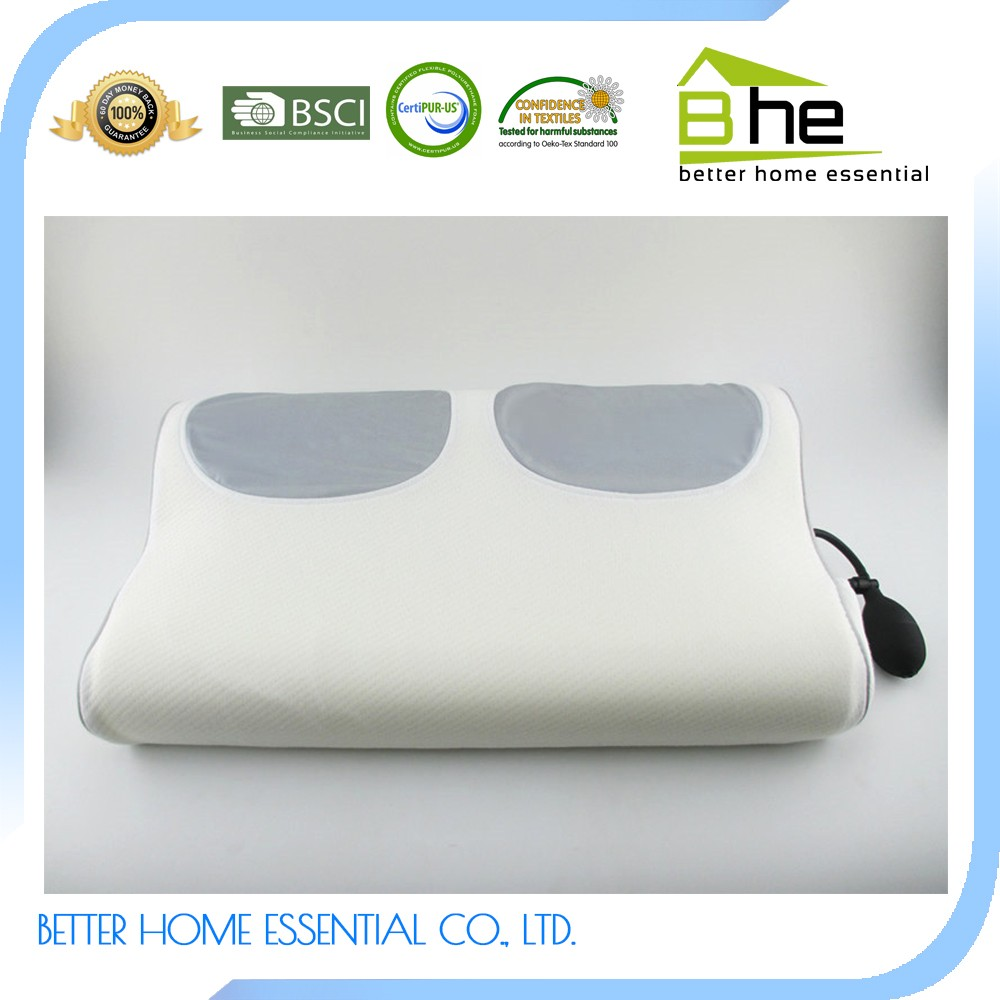 Air Chamber Memory Foam Anti-snoring Inflatable Therapeutic Pillow ...