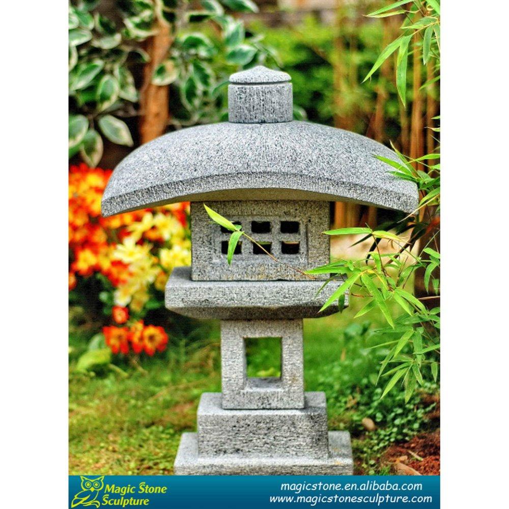 Гранитный камень фонари для тележки садовые под цветы.