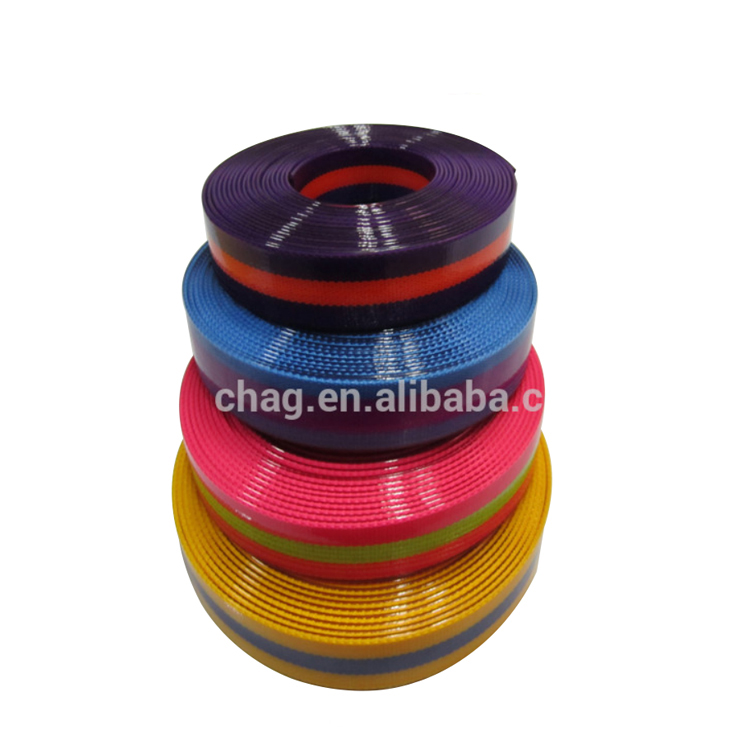 Reflective Elastic Tpu Coated Colorful Nylon Webbing Tape For Home Application