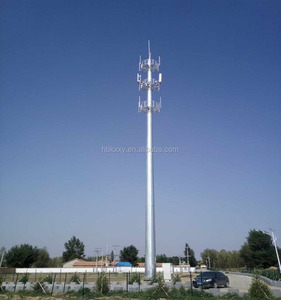 ISO 9001 Certificated Self Supporting Wireless GSM Communication/Telecommunication Monopole Steel Tower Hot Dip Galvanized