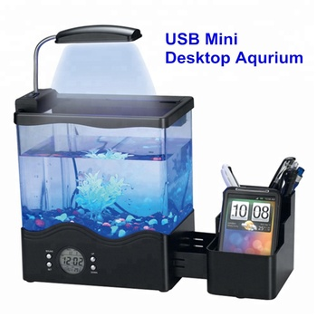 UCHOME Mini Desktop USB Aquarium/mini aquarium/led Desktop Aquarium accessoires