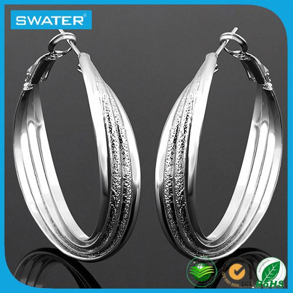 Fashion Accessories Silver Big Hoop Earrings Wholesale
