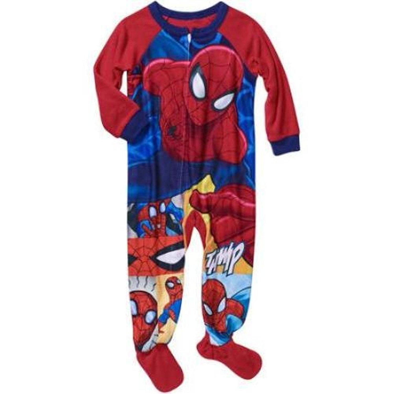 Marvel Spiderman Boy Footed Sleeper Blanket Pajama Size 6//7