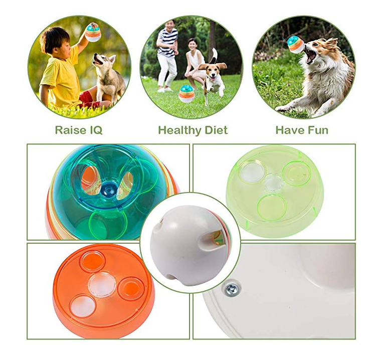 Pet Tumbler Interactive Toy Dog Shaking Food Leak Ball Funny IQ Puzzle Ball Dog Self Feeding Toy Puppy Play  Feeder TOY