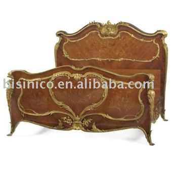 Good French Marquetry Bronze And Wood Bedroom Furniture Set