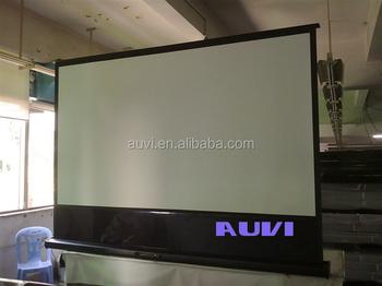 Electric floor projector screen motorized floor projection for Motorized floor up screen