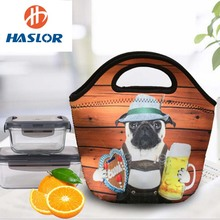 China supplier cute neoprene insulated frozen lunch bag with straps
