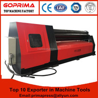 W11S rolling machine supplier bending function plate bending rolls universal type metal sheet roller for sale