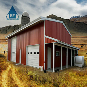 China Low Cost Prefab Metal Steel Structure Cow / Horse /Chicken Sheep Farm Building / barn / shed for sale