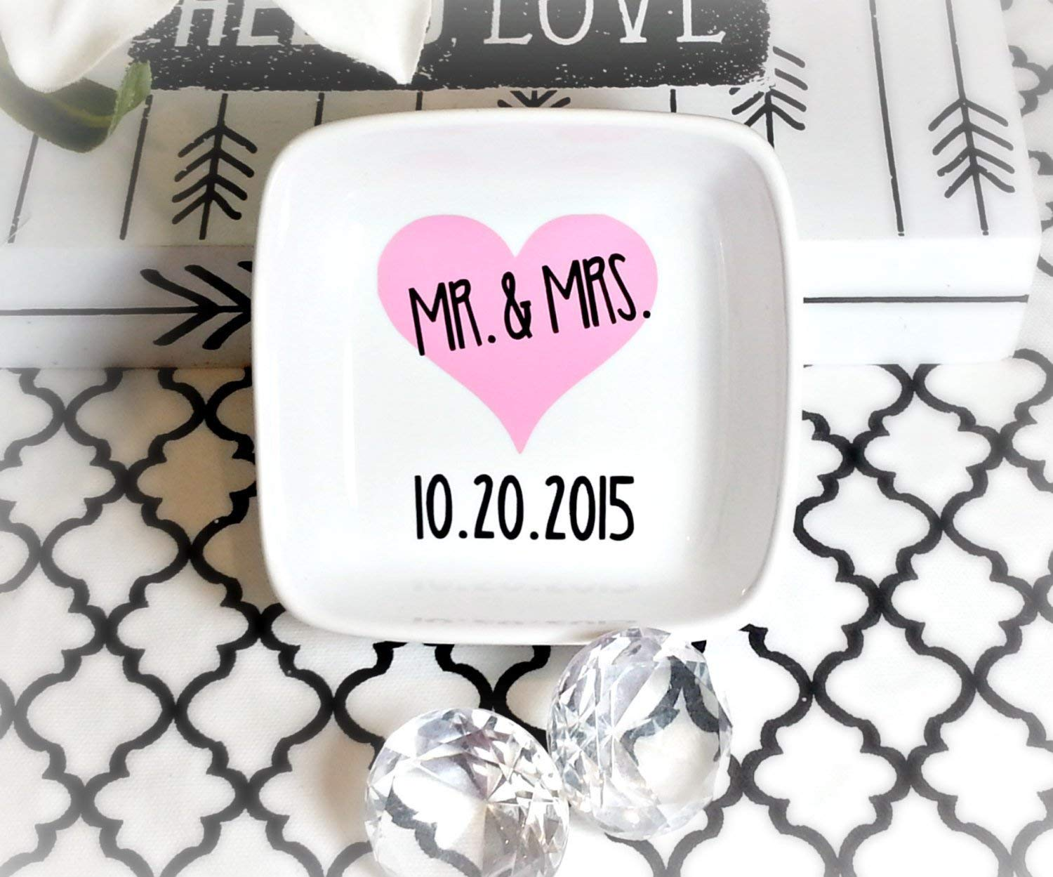 Mr and Mrs Ring Dish, His and Hers Ring Dish, His and Hers Ring Bowl, Wedding Ring Bowl, Wifey Gift, Future Wifey Gift, Bride to Be Gift