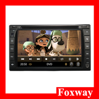 Android Dual core CPU car DVD gps player 6.2 inch touch screen 2 din car gps audio player for Universal type
