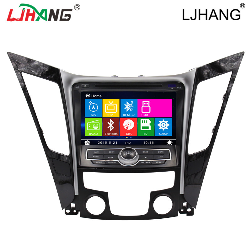 touch screen car stereo gps navigation dvd player hyundai 2012 Sonata with bluetooth radio tuner