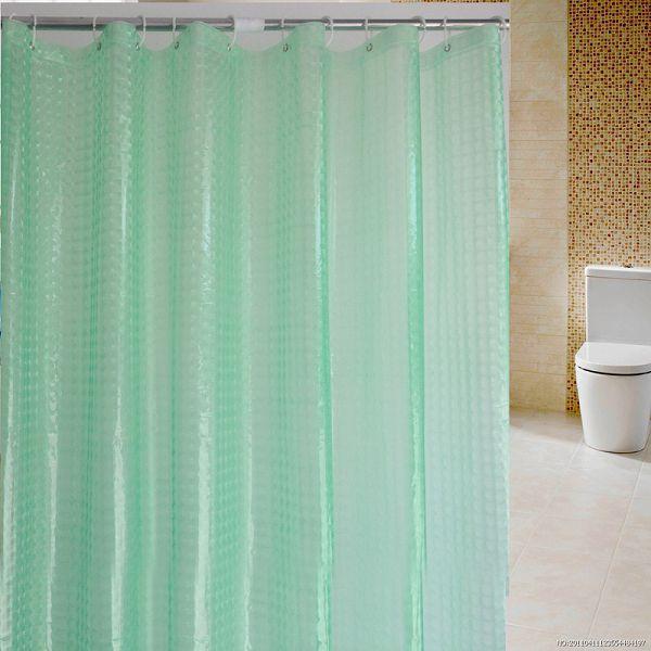 Waterproof Customized 3d Eva Shower CurtainTransparent