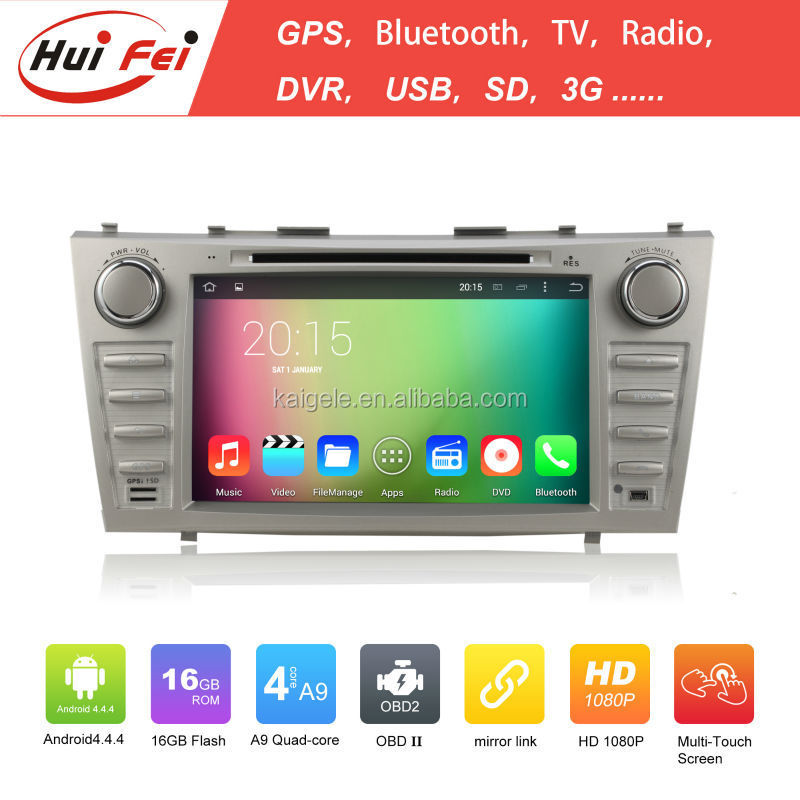 Huifei Quad Core A9 Android 4.4 Capacitive Screen 1024*600 In <strong>Car</strong> Entertainment For <strong>Toyota</strong> Camry Touch Screen <strong>Car</strong> Dvd Player