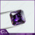 Amethyst color cubic zirconia synthetic radiant cut square shape cz stones price