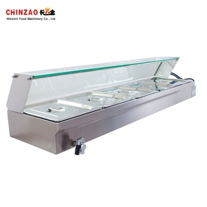 Buffet Shop Equipment Stainless Steel Gas Bain Marie With 6 Pan