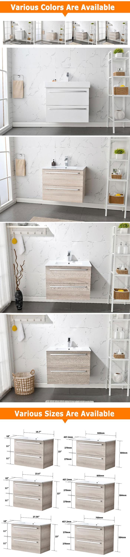 Single sink 30 inch floating luxury hotel modern bathroom vanities