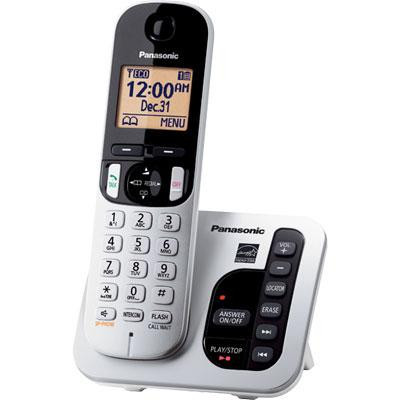KXTGC-220 - Panasonic DECT 6.0 Digital Cordless Answering System w/ 1 Hr with Expandable Handsets Panasonic cordless phone