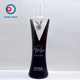 Printing OEM logo recycled empty vodka bottle screen printing wine glass bottle