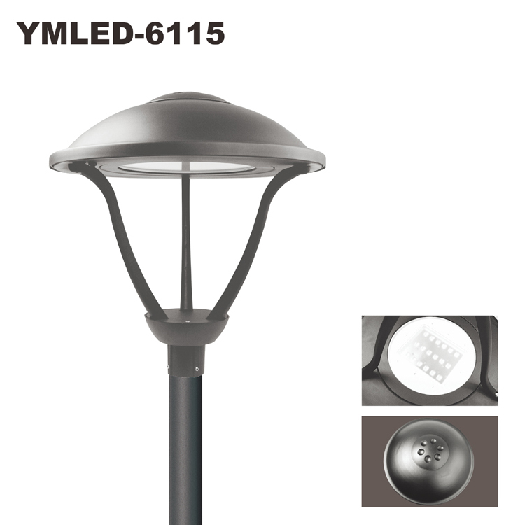 Street Light Diffuser: China Manufacturer LED Garden Pole Lights 5years Warranty