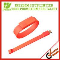 High Quality Colorful Custom USB Silicone Wristbands