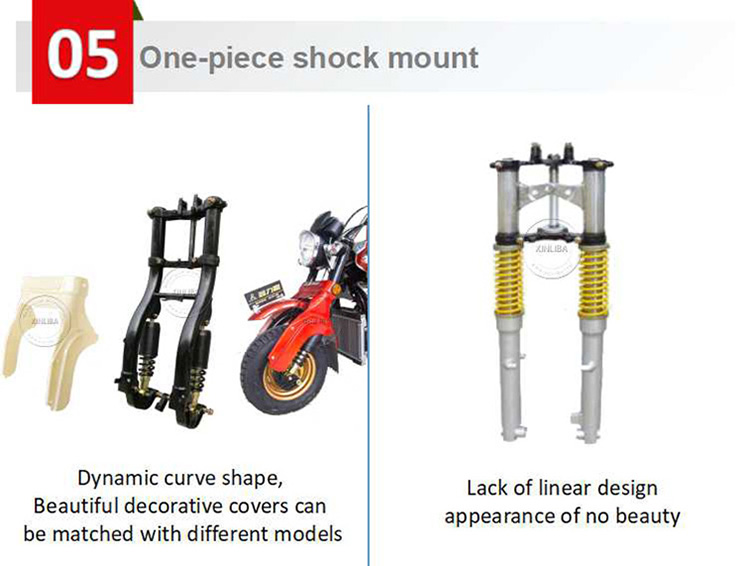 tricycle twin rear shock absorber adjustment price