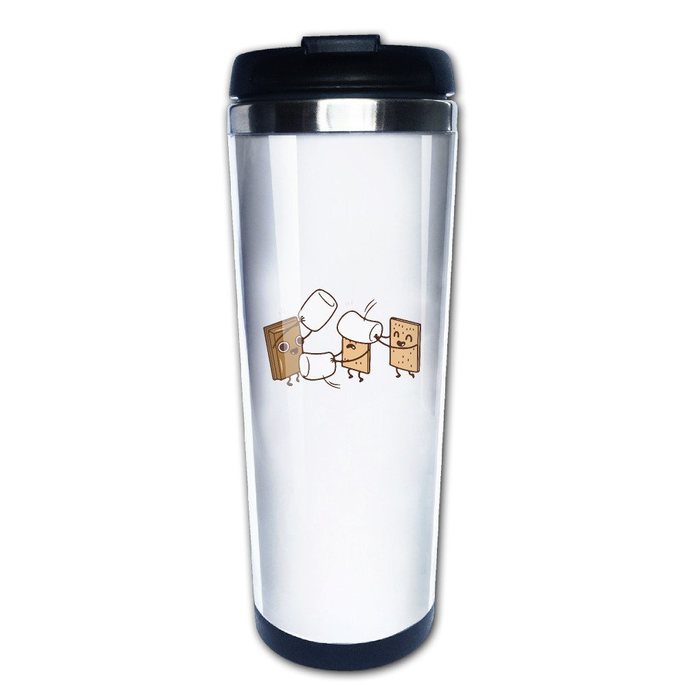 How Smores Are Made Animated Cookies Cute Travel Mugs Coffee Tumbler Cute Cups