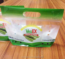 fresh vegetable packing bag/fruits/recyclable/fresh vegetables plastic bags