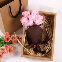 High Quality cardboard boxes for rose,flower box with handle in Shenzhen