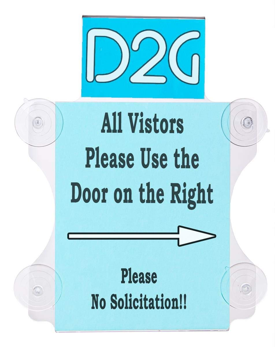 Displays2go 8.5 x 11 Inches Window Sign Suction Cup Mount with 6 x 4 Inches Header Insert, Clear Acrylic, Set of 8 (GWM8511HD)