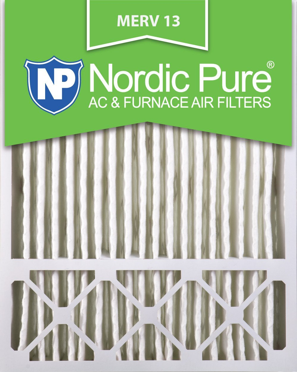 Nordic Pure 20x25x5 (4-3/8 Actual Depth) Lennox X6673_X6675 Replacement MERV 13 Pleated AC Furnace Air Filter, Box of 2