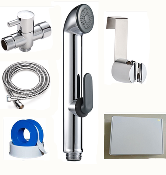 Wall Mounted Shattaf Bidet Spray High Quality Two Function Toilet Grohe Plastic Travel Sprayer