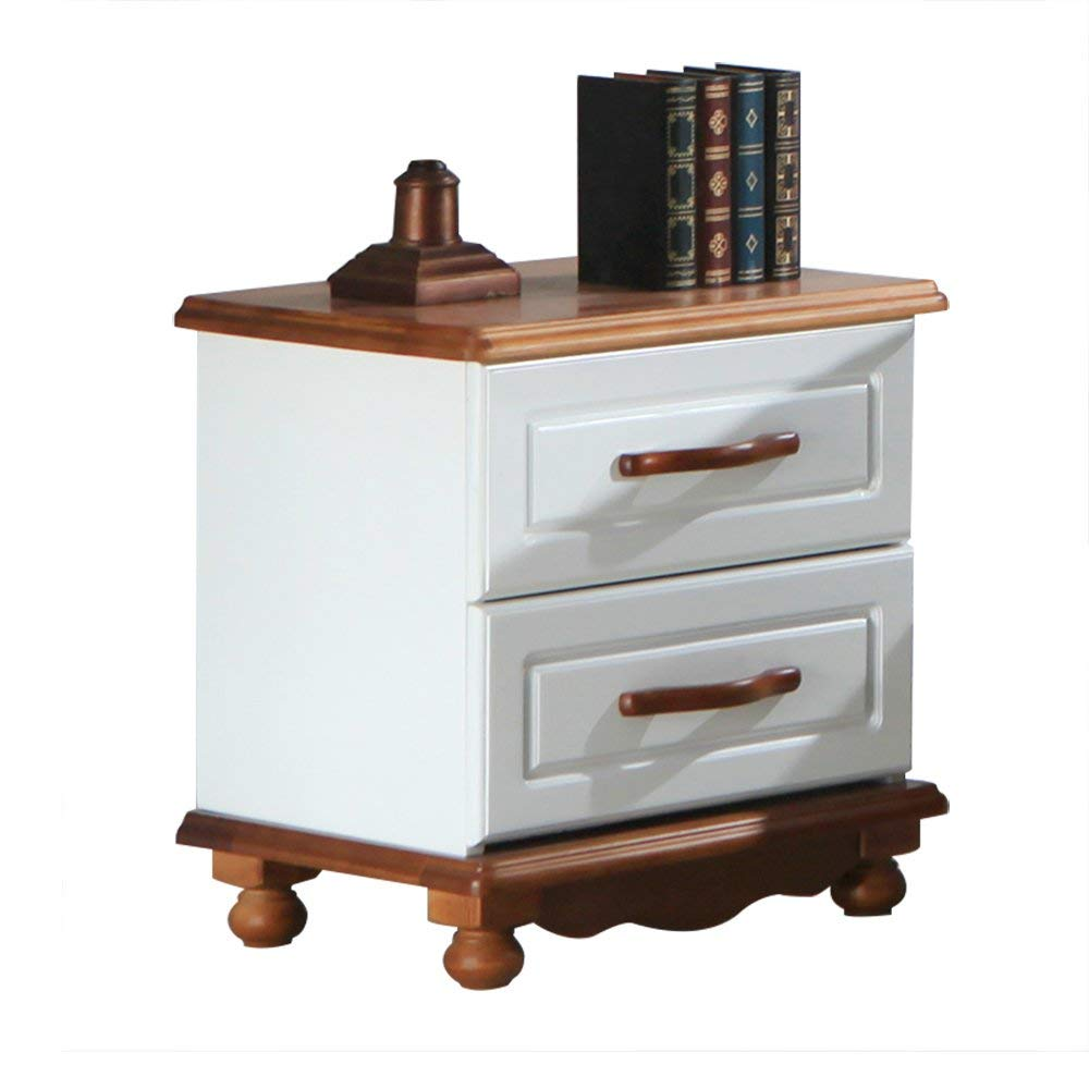 XUE Bedside Table Birch Bedside Table Solid Wood Storage Cabinet Bedroom Lockers Drawer Cabinets