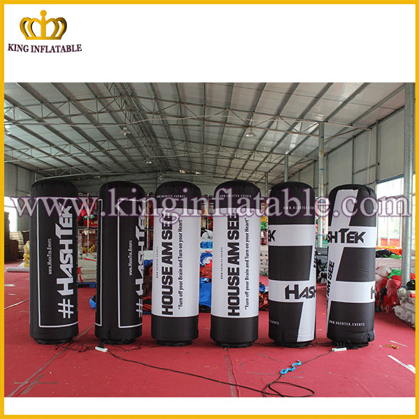 2016 factory price LED inflatable column / inflatable lighted tube for advertising