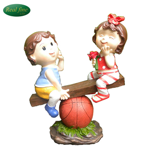 Resin Boy and Girl Crafts For Garden Decor