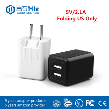 5v 2.1a usb wall charger 10W 2000mA portable mobile phone charger for cellphones