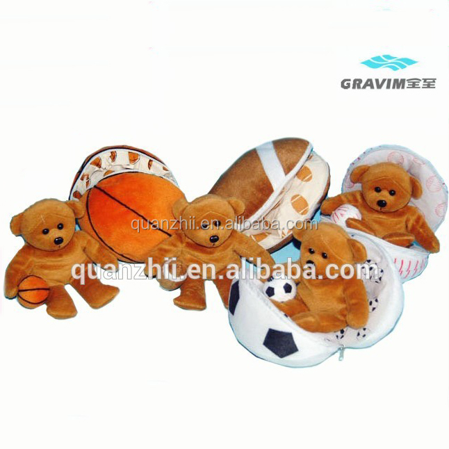 In various kinds of ball plush toy bear