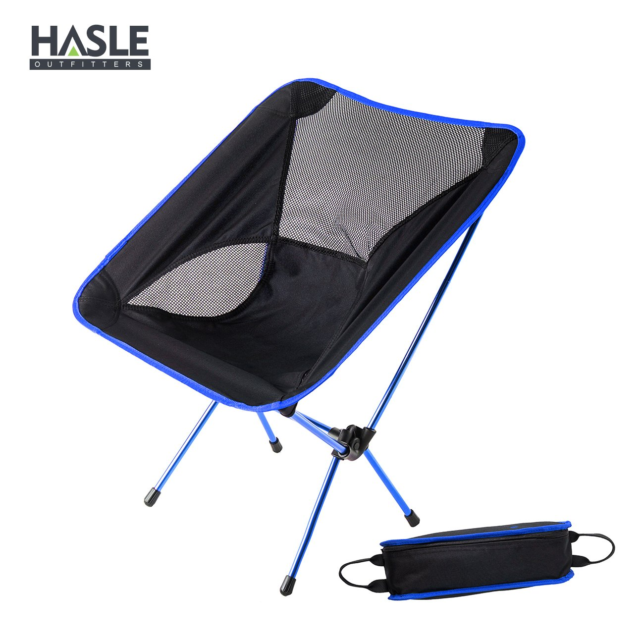 HASLE OUTFITTERS Portable Camping Chairs, Hiking Camping Chair, Outdoor Folding Backpacking Chairs for Travel, Picnic, Hiking.