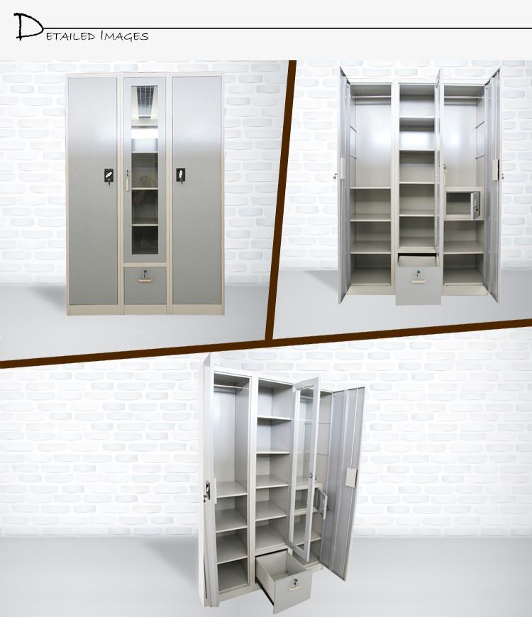 Top Quality Factory Direct Sales 3 Door Steel Bedroom Wardrobe ...