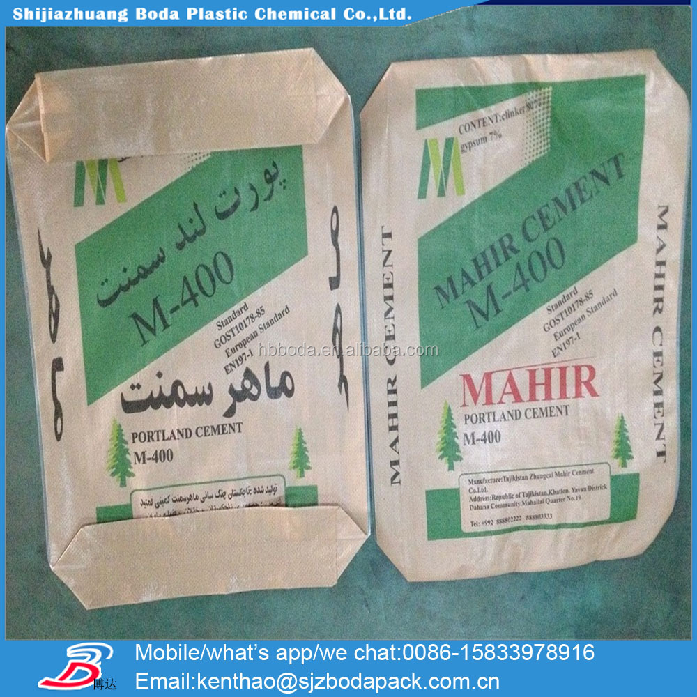 25kg Pp Cement Bag Price/50kg Plastic Cement Sack Size From China ...