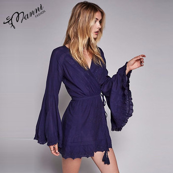 Glockenärmel Bestickt Damen Nacht Kleid Sex - Buy Product on Alibaba.com
