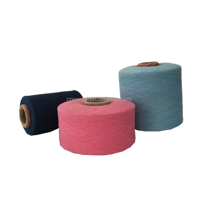 Colorful cotton polyester weaving yarns wholesale