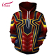 2018 Hot Sale Men hoodies Fashion men Spiderman 3d print Hoodies Streetwear Casual Cospaly Sweatshirt Plus Size 5XL