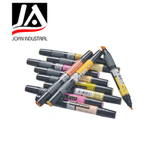 New design double-end art multi color markers pen
