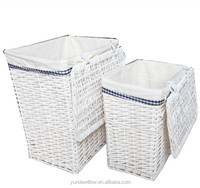 willow material new designs cheap small wicker basket laundry basket